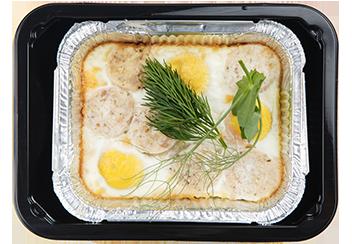 Яичница с колбасками