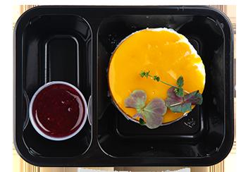 Творожный чиа-торт с манго