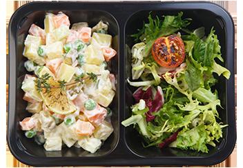 Салат с грибами и кешью
