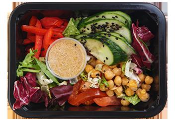 Свежий салат с нутом