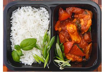 Курица в кисло-сладком соусе по-китайски с рисом