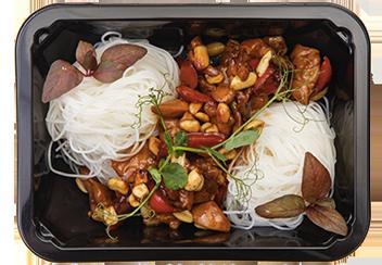 Курица кунг-пао с фунчозой