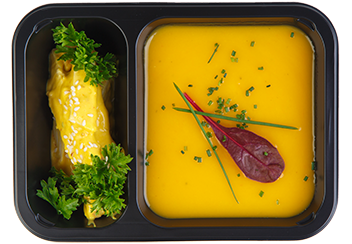 Тыквенный суп с цыпленком карри